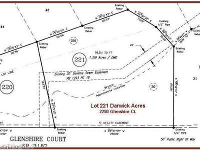 Winston Salem Residential Lots & Land For Sale: 2250 Glenshire