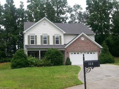 Kernersville Single Family Home For Sale: 113 Smith Branch Court