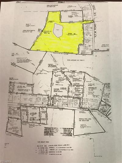 Rockingham County Residential Lots & Land For Sale: Penn Lake Drive
