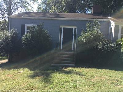 Greensboro NC Single Family Home For Sale: $74,500