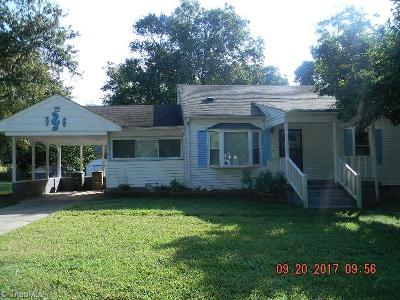 Greensboro NC Single Family Home For Sale: $45,600