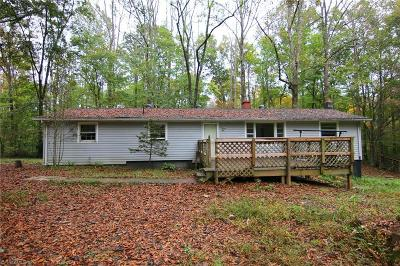 Reidsville NC Single Family Home For Sale: $54,900