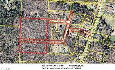 Hillsborough Residential Lots & Land For Sale: Tbd Howard Drive