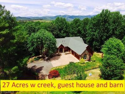 Traphill NC Single Family Home For Sale: $725,000