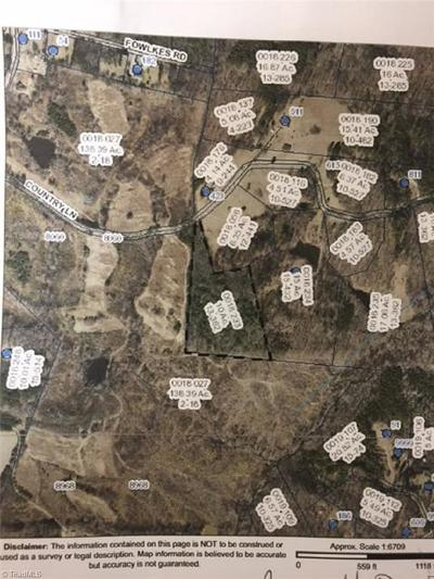 Caswell County Residential Lots & Land For Sale: 00 Country Lane