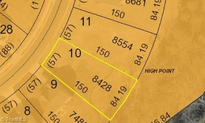 High Point Residential Lots & Land For Sale: Lots 10 & 11 Planters Drive
