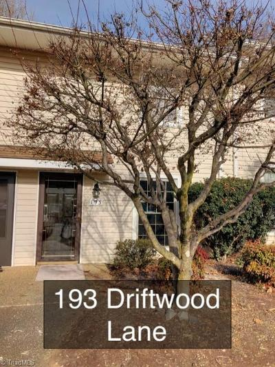 Winston Salem Condo/Townhouse For Sale: 193 Driftwood Lane