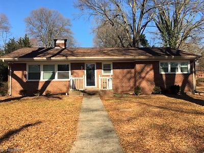 Reidsville NC Single Family Home For Sale: $99,900