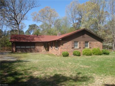 Guilford County Single Family Home For Sale: 6500 Lake Brandt Road