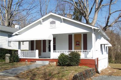 Winston Salem Single Family Home For Sale: 1533 E 24th Street