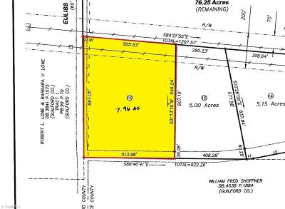 Alamance County Residential Lots & Land For Sale: 4975 Brown Road