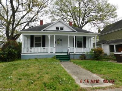 Greensboro NC Single Family Home For Sale: $68,900