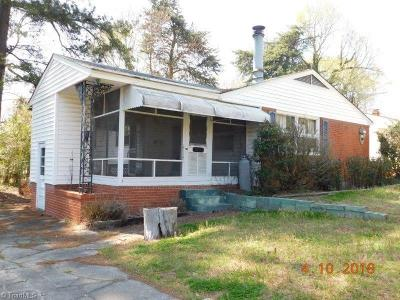 Greensboro NC Single Family Home For Sale: $99,900