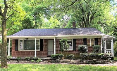 Winston Salem Single Family Home For Sale: 3246 Arlington Drive