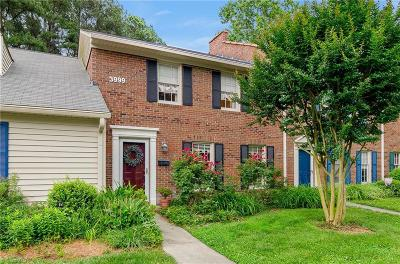 Winston Salem Condo/Townhouse For Sale: 3999 Valley Court