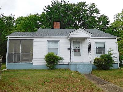 Greensboro NC Single Family Home For Sale: $49,000