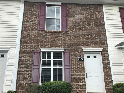 Winston Salem Condo/Townhouse For Sale: 837 Brickwood Court