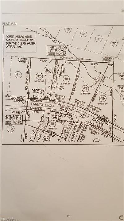 High Point Residential Lots & Land For Sale: 2673 Dandelion Drive