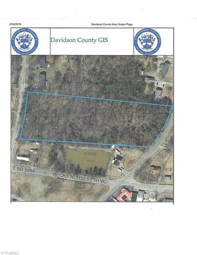 Lexington NC Residential Lots & Land Sold: $42,000