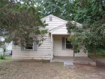 High Point NC Single Family Home For Sale: $24,900