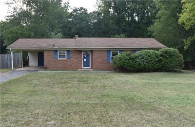 Kernersville NC Single Family Home For Sale: $108,800