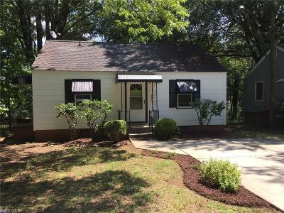 Greensboro NC Single Family Home For Sale: $79,000
