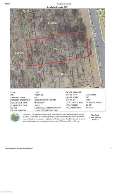 Asheboro Residential Lots & Land For Sale: Robins Nest Drive