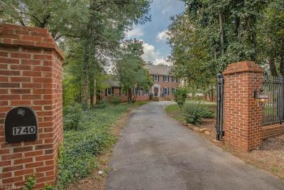 Winston Salem Single Family Home For Sale: 1740 Reynolda Road
