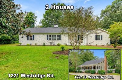 Greensboro Single Family Home For Sale: 1221 Westridge Road
