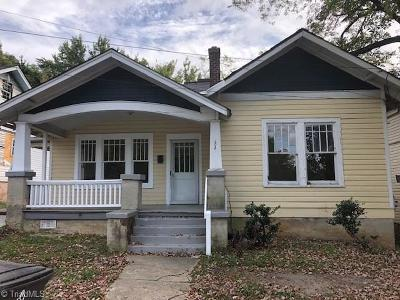 Winston Salem Single Family Home For Sale: 604 E 16th Street