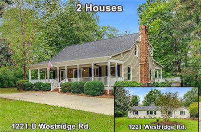 Greensboro Single Family Home For Sale: 1221-B Westridge Road