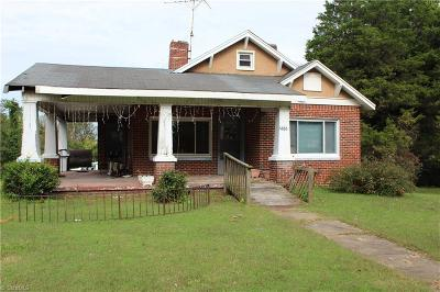 Reidsville NC Single Family Home For Sale: $70,000