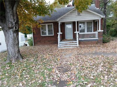 Winston Salem NC Single Family Home For Sale: $55,000
