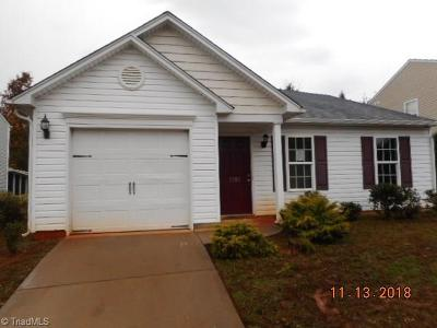 Winston Salem NC Single Family Home For Sale: $109,000