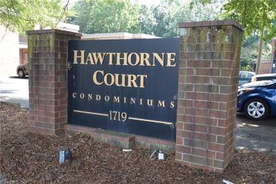Winston Salem Condo/Townhouse For Sale: 1757 Hawthorne Road