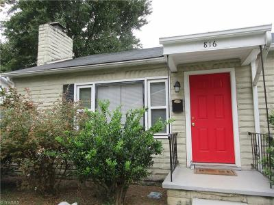 Winston Salem Single Family Home For Sale: 816 Decatur Street