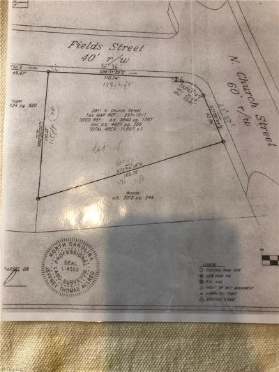 Guilford County Commercial Lots & Land For Sale: 2811 Church Street