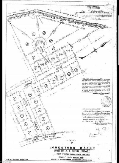 Winston Salem Residential Lots & Land Due Diligence Period: Joshie Drive