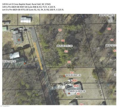 Rural Hall Residential Lots & Land For Sale: 149 & Lot 0 Cross Baptist Church Road #Lots 90B