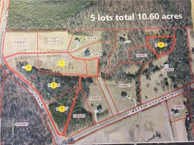 Alamance County Residential Lots & Land For Sale: Timber Ridge Lake Road