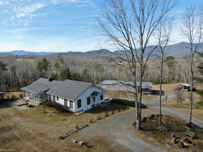Single Family Home For Sale: 1148 Round Peak Church Road