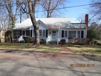 Surry County, Yadkin County, Davie County, Stokes County, Forsyth County, Davidson County, Rockingham County, Guilford County, Randolph County, Caswell County, Alamance County Single Family Home For Sale: 406 4th Avenue