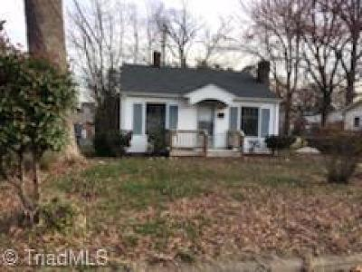 High Point NC Single Family Home For Sale: $39,999
