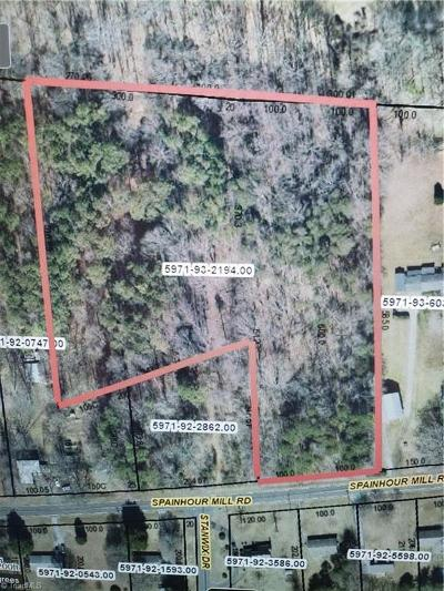 Tobaccoville Residential Lots & Land For Sale: Spainhour Mill Road
