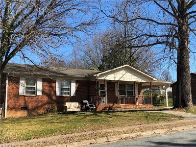 Winston Salem NC Single Family Home For Sale: $69,000