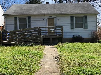 Winston Salem NC Single Family Home For Sale: $54,300