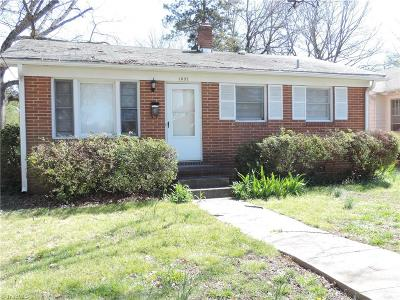 Greensboro Single Family Home For Sale: 1037 S Aycock Street