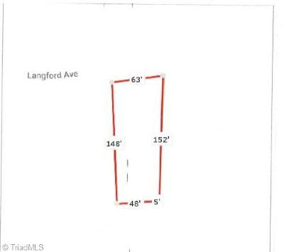 High Point Residential Lots & Land For Sale: 605 Langford Avenue