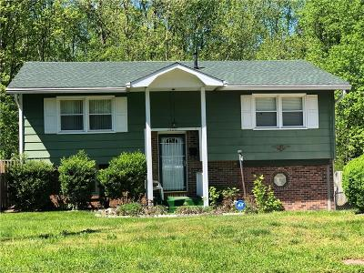 Winston Salem Single Family Home For Sale: 1600 Marble Street