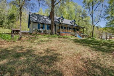 Single Family Home For Sale: 1187 Town Fork Trail Road